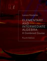 Cover of: Elementary And Intermediate Algebra | Ron Larson, Robert P. Hostetler