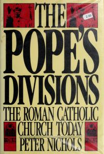 Cover of: The Pope's Divisions   Nichols, Peter